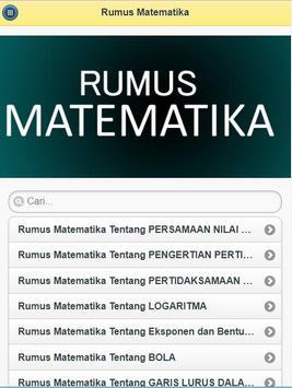 Rumus Matematika poster
