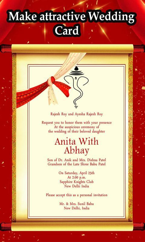Wedding Invitation Card Maker 2019 For Android Apk Download