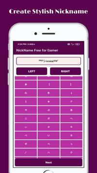 Stylish Nickname Generator Free For Pro Gamer screenshot 1