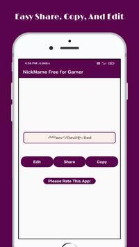 Stylish Nickname Generator Free For Pro Gamer screenshot 3