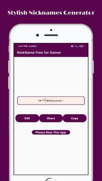 Stylish Nickname Generator Free For Pro Gamer screenshot 4