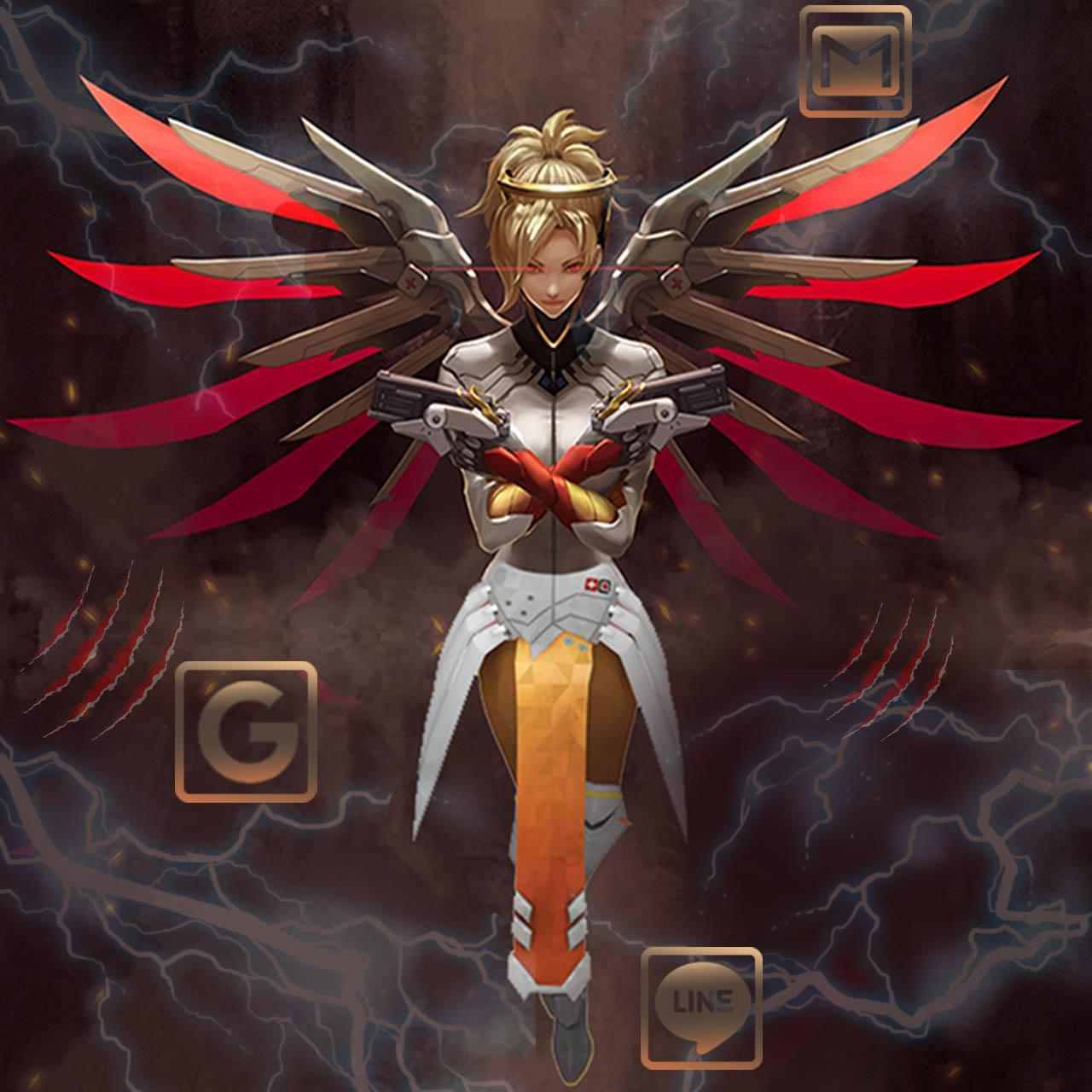Cool Overwatch Mercythemes Fonds Hd Pour Android