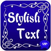 text stylish pro icon