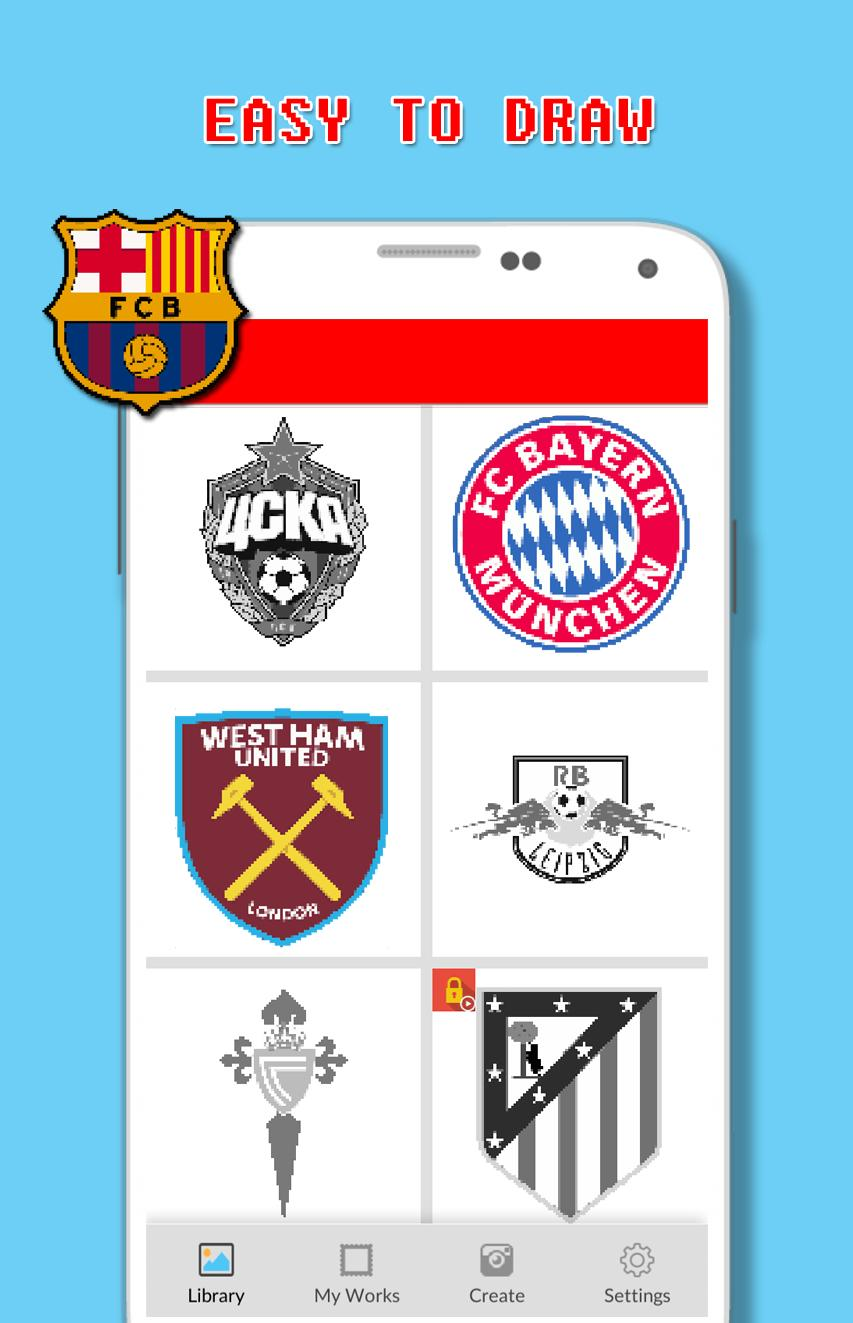 Football Logo Coloring By Number - Pixel for Android - APK
