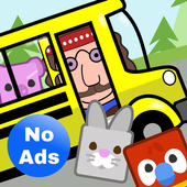 Preschool Bus: Toddler Games Free for 2 Year Olds 图标