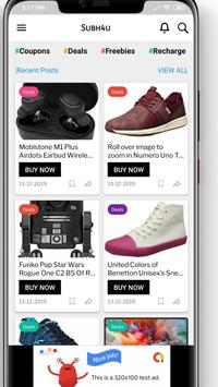 SUBH4U - Shopping Deals, Coupons & Offers screenshot 1