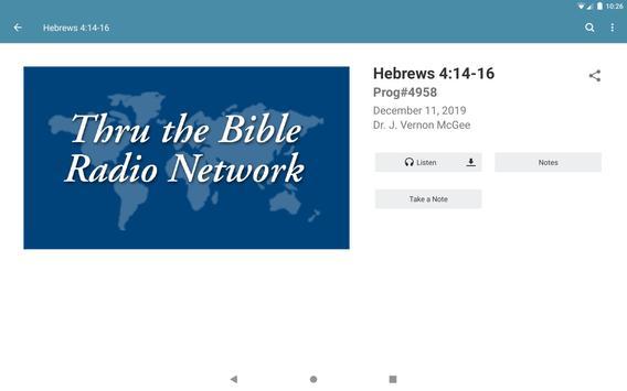 Thru the Bible Radio Network captura de pantalla 7