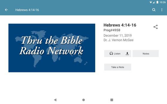 Thru the Bible Radio Network captura de pantalla 4