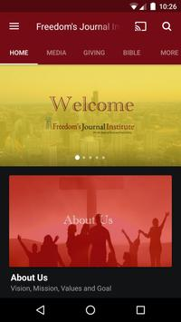 Freedom's Journal Institute poster