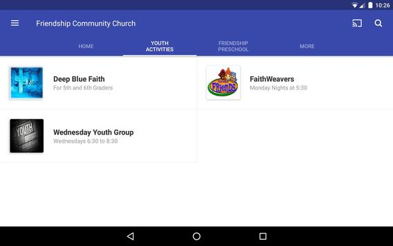 Friendship Community Church screenshot 7
