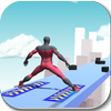 SuperHeroes Sky Roller : 3D  Real Skates Rolling icon