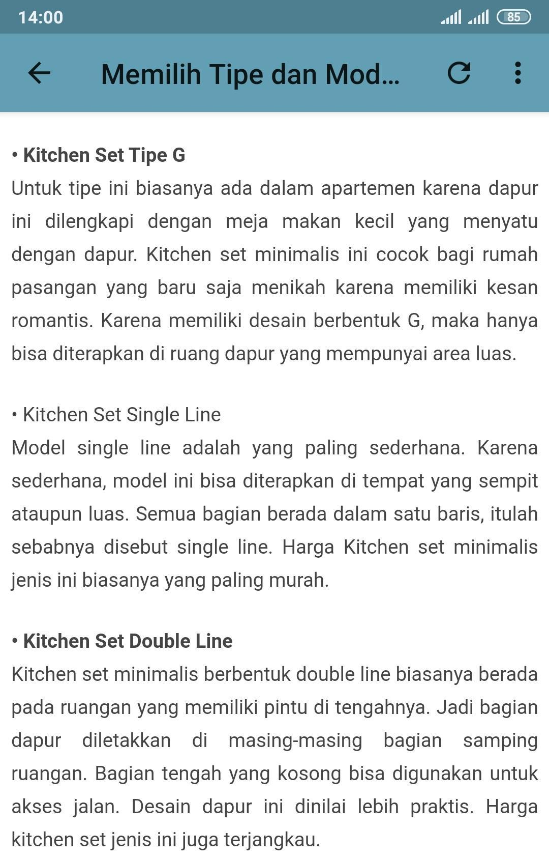 Daftar Harga Kitchen Set Minimalis For Android Apk Download