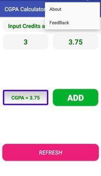 CGPA Calculator screenshot 1
