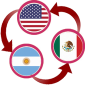 US Dollar To Argentine Peso and MXN Converter App icon