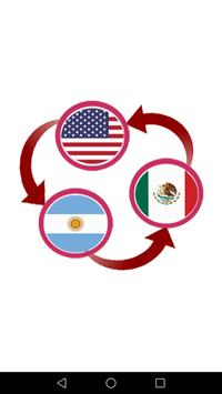 US Dollar To Argentine Peso and MXN Converter App poster