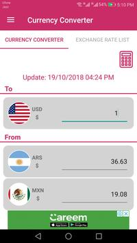 US Dollar To Argentine Peso and MXN Converter App screenshot 1