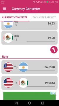 US Dollar To Argentine Peso and MXN Converter App screenshot 2