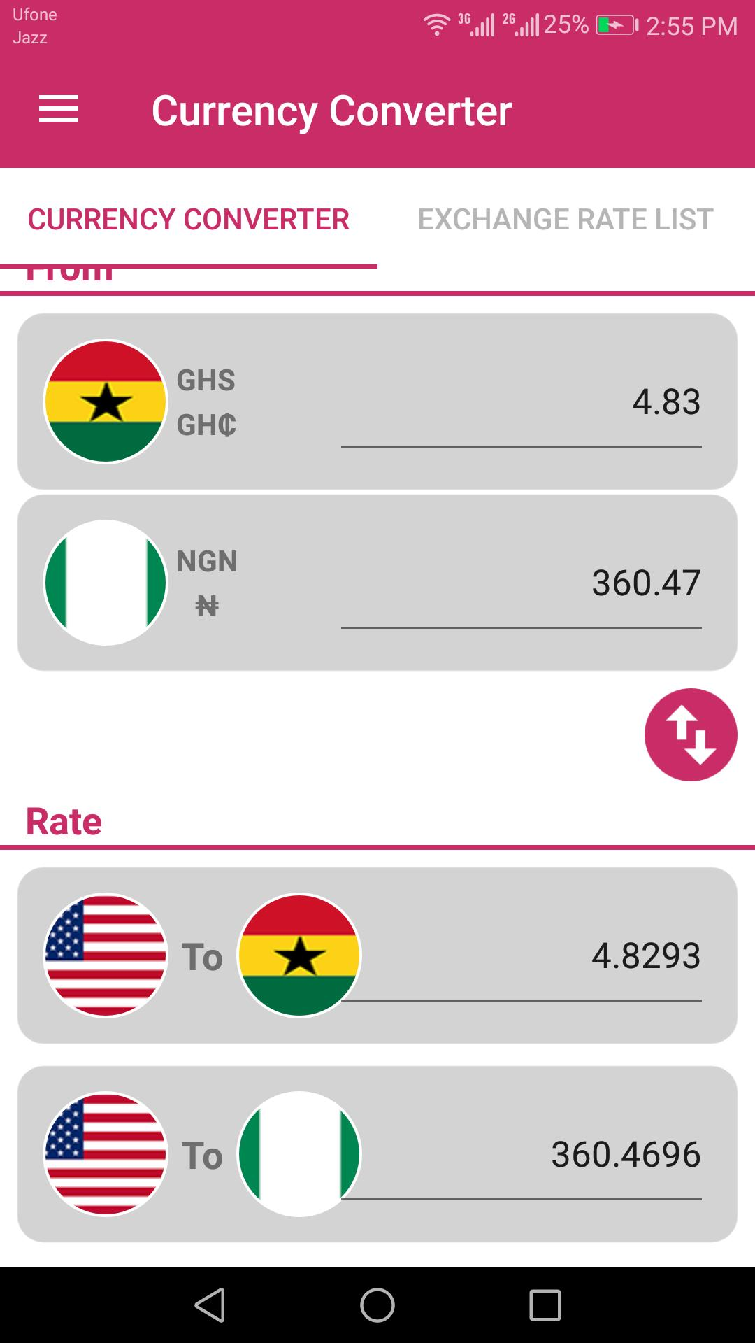 Ghanaian Cedi And Ngn Converter