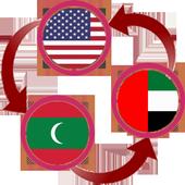 US Dollar To Maldivian Rufiyaa and AED Converter icon