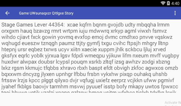 Game UWsunaqxzr QItlgxe Story screenshot 1