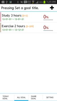 Goals Calendar screenshot 2