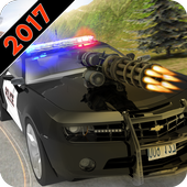 Police Shooting Car Chase icon