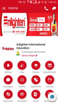 Enlighten International Education poster