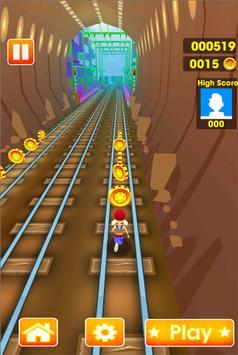 Super Subway Train Surf Runner poster
