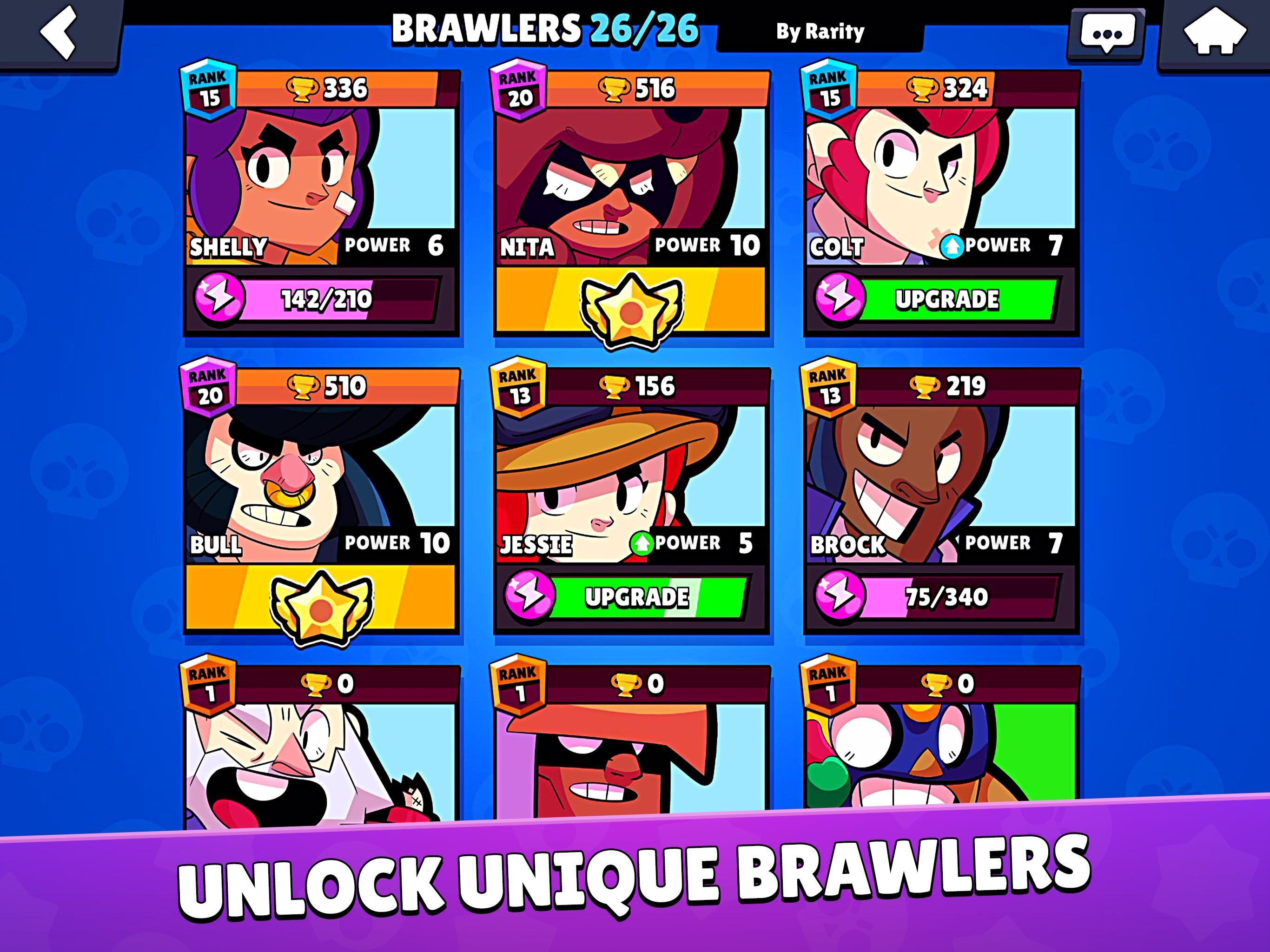 Brawl Stars APK Download, pick up your hero characters in 3v3 smash