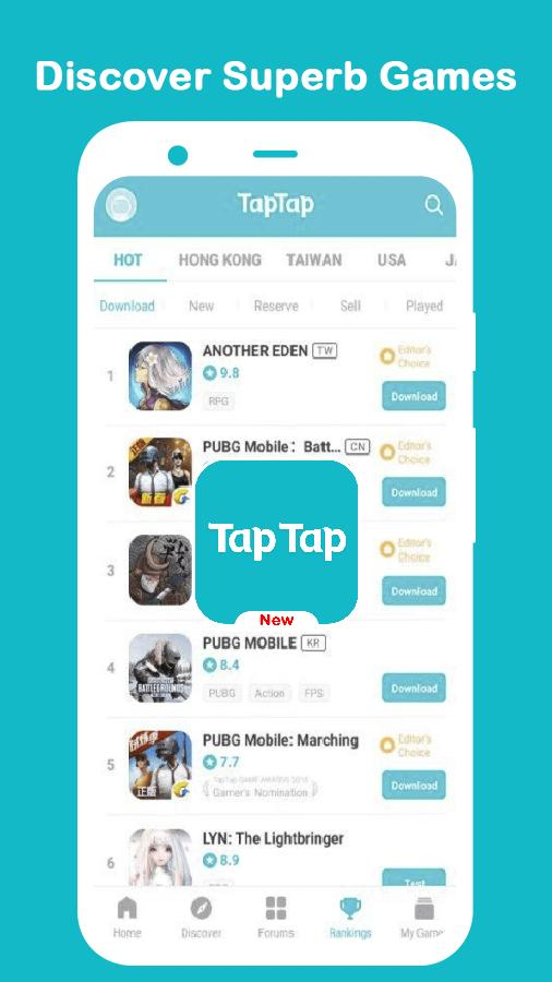 Tap Tap App TapTap Discover Superb Games 2021 for Android