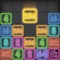 Drop Number : Neon 2048