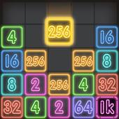 Drop Number : Neon 2048 icon