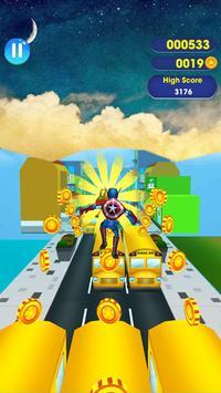 SuperHeroes Subway Surf Train Rush : End Game screenshot 3