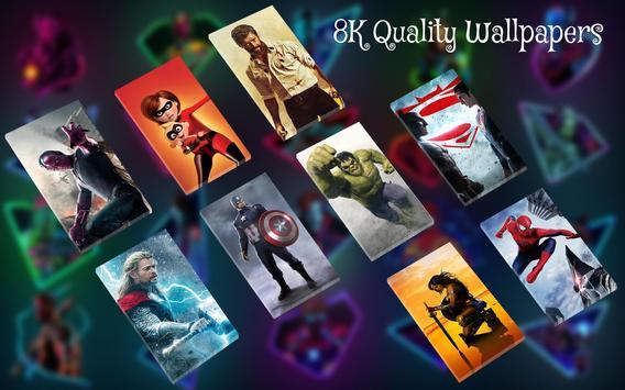 Superhero Wallpaper : Live 4D Wallpaper screenshot 1