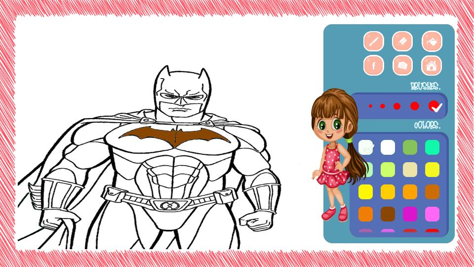 Livre De Coloriage Super Heros Man For Android Apk Download