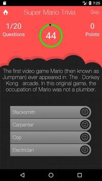 UnOfficial Super Mario Quiz Trivia Game screenshot 1
