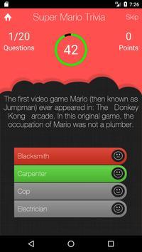 UnOfficial Super Mario Quiz Trivia Game screenshot 2