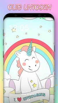 Cute Unicorn Pony Wallpaper poster