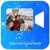 Video Me Gana Badle : Audio Video Editor Mixer icon