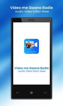 Video Me Gana Badle : Audio Video Editor Mixer poster