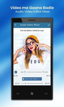 Video Me Gana Badle : Audio Video Editor Mixer screenshot 8