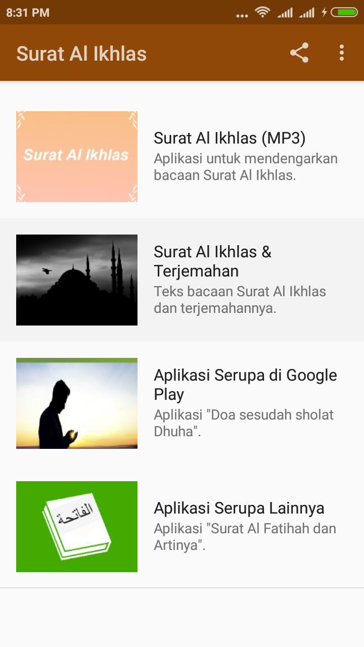 Android Için Surat Al Ikhlas Apkyı Indir