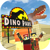 Dino Theme Park Craft ícone