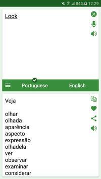Portuguese - English Translato screenshot 2