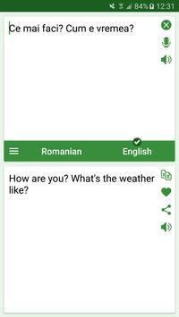 Romanian - English Translator screenshot 1