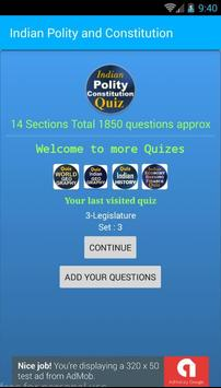 Indian Constitution and Polity 1850 MCQ Quiz poster