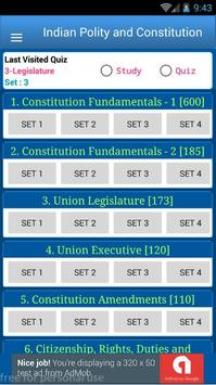 Indian Constitution and Polity 1850 MCQ Quiz screenshot 1