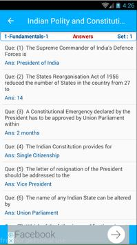 Indian Constitution and Polity 1850 MCQ Quiz screenshot 7