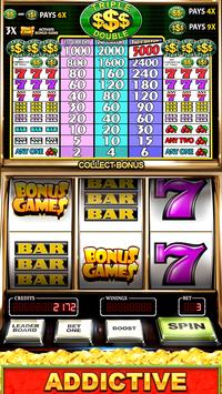 Slot Machine: Free Triple Double Gold Dollars poster