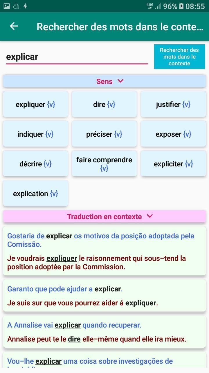 Conjugaison Verbe Portugais Pour Android Telechargez L Apk